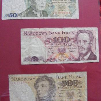 Mamy też stare banknoty